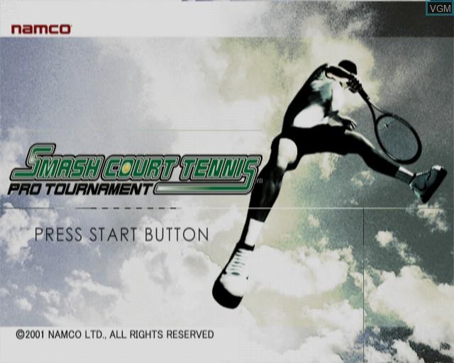 Image de l'ecran titre du jeu Smash Court Tennis Pro Tournament sur Sony Playstation 2