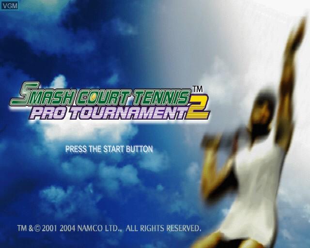 Image de l'ecran titre du jeu Smash Court Tennis Pro Tournament 2 sur Sony Playstation 2