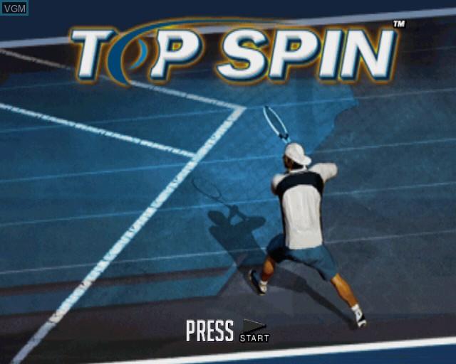 Image de l'ecran titre du jeu Top Spin sur Sony Playstation 2