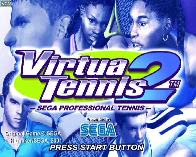 Image de l'ecran titre du jeu Virtua Tennis 2 sur Sony Playstation 2
