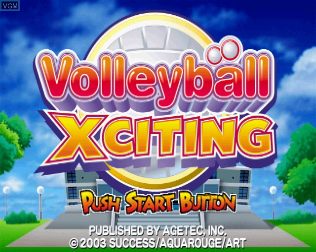Image de l'ecran titre du jeu Volleyball Xciting sur Sony Playstation 2