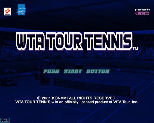 Image de l'ecran titre du jeu WTA Tour Tennis sur Sony Playstation 2