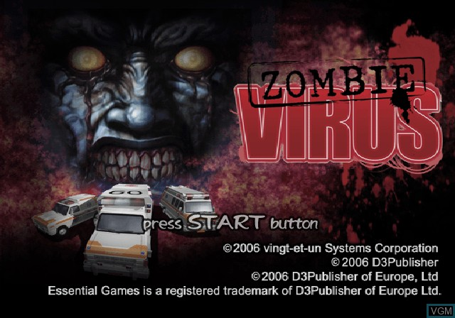 Image de l'ecran titre du jeu Zombie Virus sur Sony Playstation 2