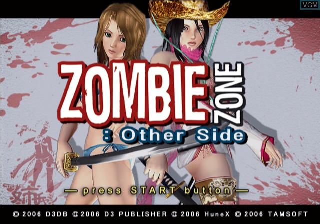 Image de l'ecran titre du jeu Zombie Zone - Other Side sur Sony Playstation 2