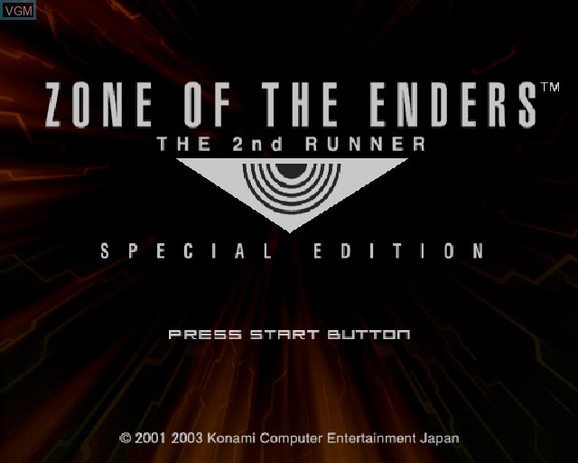 Image de l'ecran titre du jeu Zone of the Enders - The 2nd Runner sur Sony Playstation 2