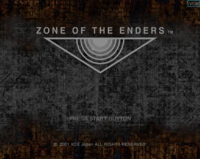 Image de l'ecran titre du jeu Zone of the Enders sur Sony Playstation 2