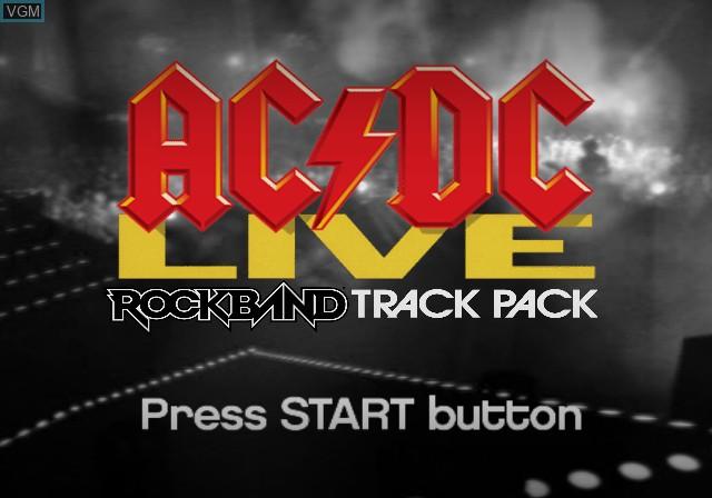 Image de l'ecran titre du jeu AC/DC LIVE - Rock Band Track Pack sur Sony Playstation 2