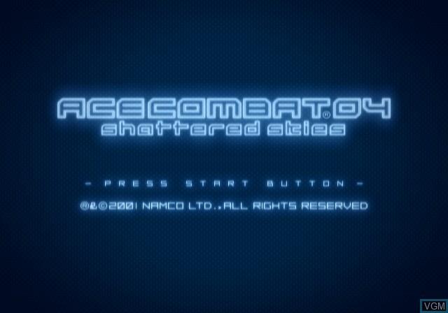 Image de l'ecran titre du jeu Ace Combat 04 - Shattered Skies sur Sony Playstation 2