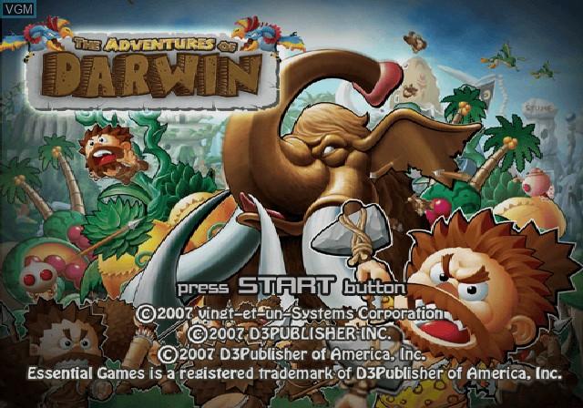 Image de l'ecran titre du jeu Adventures of Darwin, The sur Sony Playstation 2