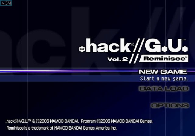 Image de l'ecran titre du jeu .hack//G.U. Vol. 2//Reminisce sur Sony Playstation 2