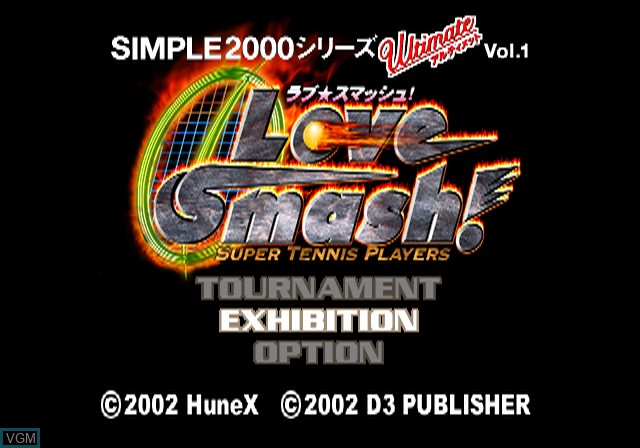 Image de l'ecran titre du jeu Simple 2000 Series Ultimate Vol. 1 - Love * Smash! sur Sony Playstation 2