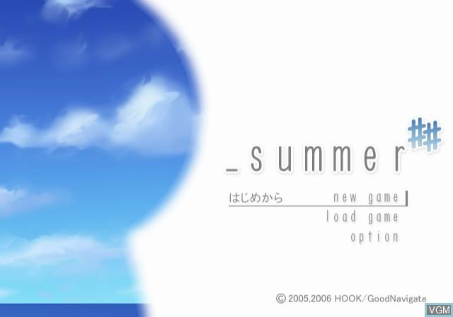Image de l'ecran titre du jeu _summer ## sur Sony Playstation 2