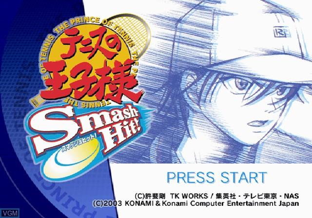 Image de l'ecran titre du jeu Tennis no Oji-Sama - Smash Hit! sur Sony Playstation 2