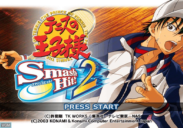 Image de l'ecran titre du jeu Tennis no Oji-Sama - Smash Hit! 2 sur Sony Playstation 2