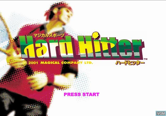 Image de l'ecran titre du jeu Magical Sports - Hard Hitter sur Sony Playstation 2