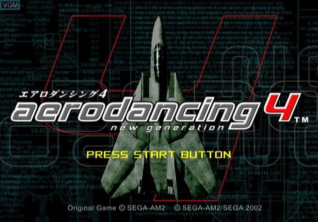Image de l'ecran titre du jeu Aero Dancing 4 - New Generation sur Sony Playstation 2
