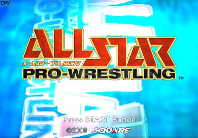 Image de l'ecran titre du jeu All-Star Pro-Wrestling sur Sony Playstation 2