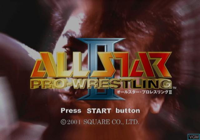 Image de l'ecran titre du jeu All-Star Professional Wrestling II sur Sony Playstation 2