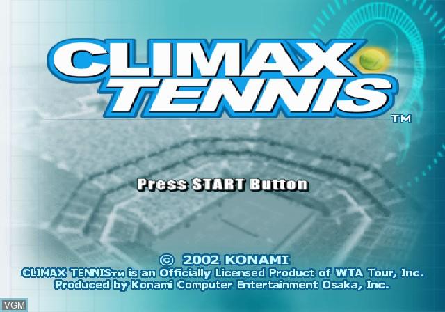 Image de l'ecran titre du jeu Climax Tennis - WTA Tour Edition sur Sony Playstation 2
