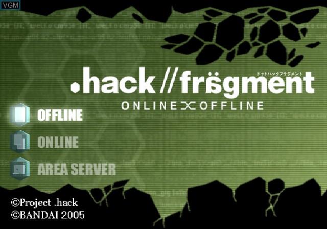 Image de l'ecran titre du jeu .hack//Fragment sur Sony Playstation 2