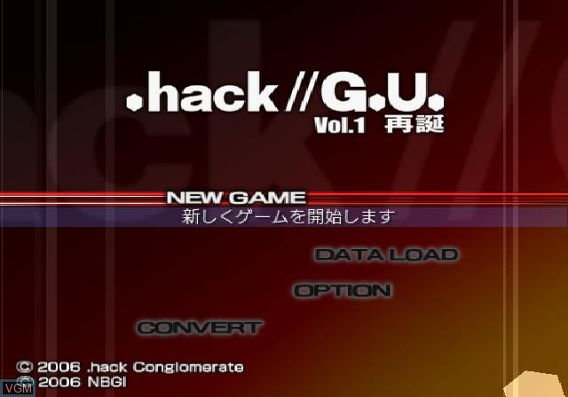 Image de l'ecran titre du jeu .hack//G.U. Vol. 1 - Saitan sur Sony Playstation 2