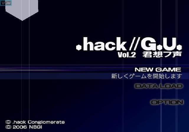 Image de l'ecran titre du jeu .hack//G.U. Vol. 2 - Kimi Omou Koe sur Sony Playstation 2