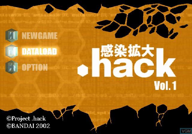 Image de l'ecran titre du jeu .hack//Kansen Kakudai Vol. 1 sur Sony Playstation 2