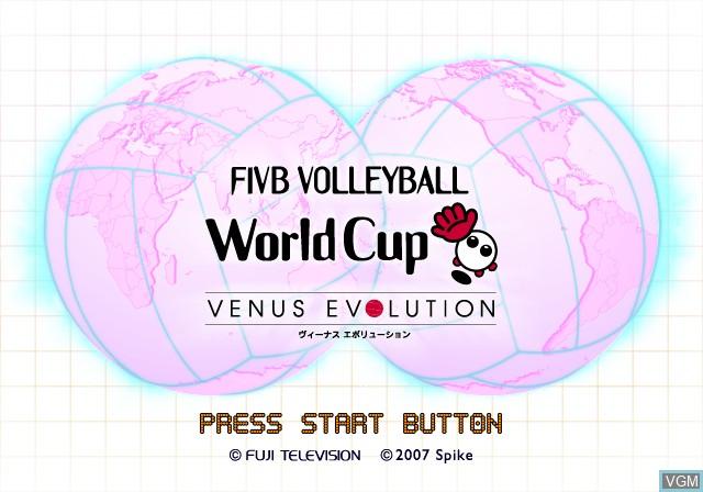 Image de l'ecran titre du jeu FIVB Volleyball World Cup - Venus Evolution sur Sony Playstation 2