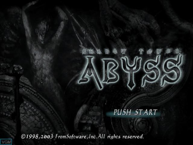 Image de l'ecran titre du jeu Shadow Tower - Abyss sur Sony Playstation 2