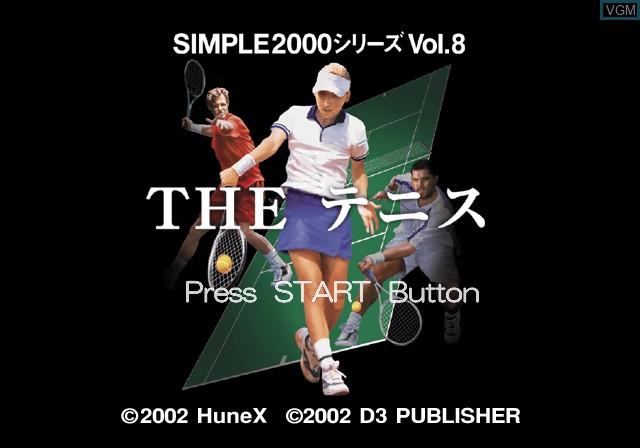 Image de l'ecran titre du jeu Simple 2000 Series Vol. 8 - The Tennis sur Sony Playstation 2