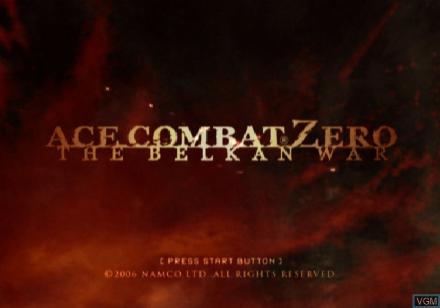 Image de l'ecran titre du jeu Ace Combat Zero - The Belkan War sur Sony Playstation 2