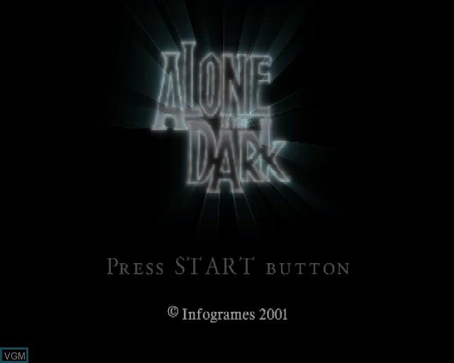 Image de l'ecran titre du jeu Alone in the Dark - The New Nightmare sur Sony Playstation 2