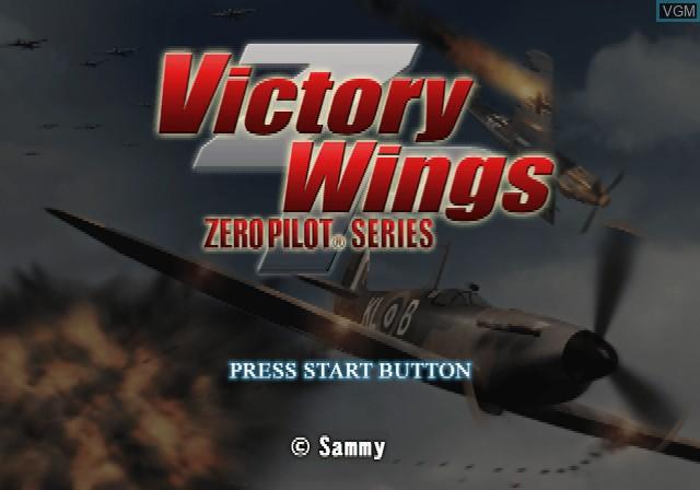Image de l'ecran titre du jeu Victory Wings - Zero Pilot Series sur Sony Playstation 2