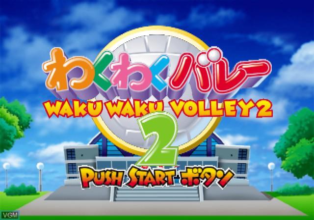 Image de l'ecran titre du jeu Waku Waku Volley 2 sur Sony Playstation 2