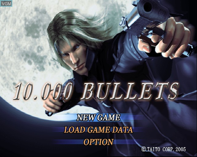 Image du menu du jeu 10,000 Bullets sur Sony Playstation 2