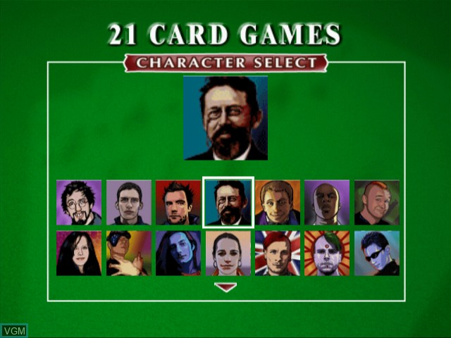 Image du menu du jeu 21 Card Games sur Sony Playstation 2