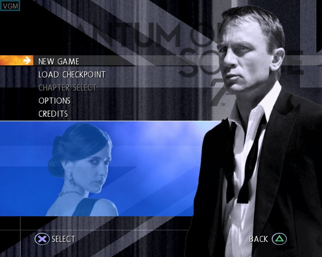 Image du menu du jeu 007 - Quantum of Solace sur Sony Playstation 2