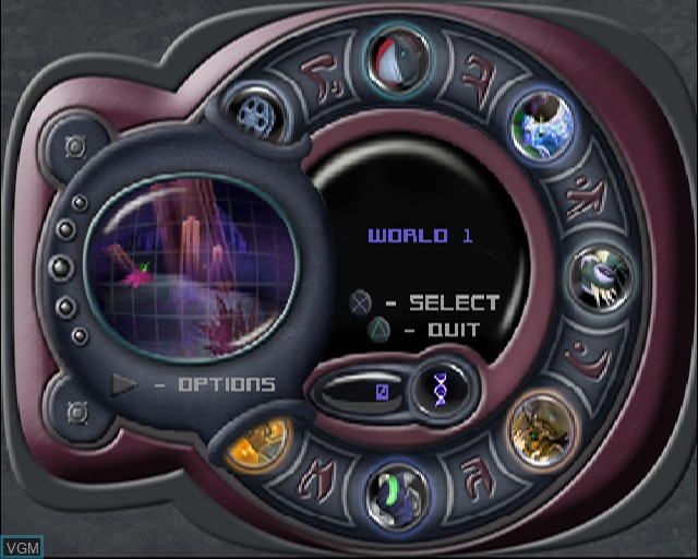 Image du menu du jeu Stitch - Experiment 626 sur Sony Playstation 2