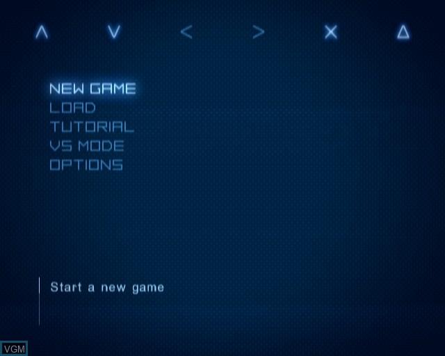 Image du menu du jeu Ace Combat - Distant Thunder sur Sony Playstation 2