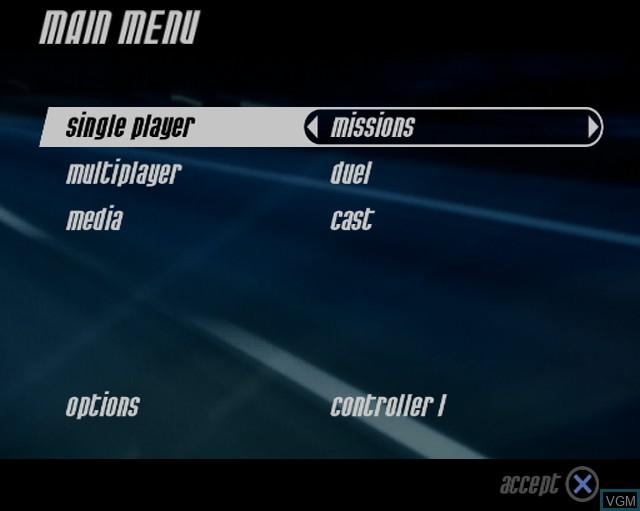 Image du menu du jeu Alarm for Cobra 11 Vol. 2 - Hot Pursuit sur Sony Playstation 2