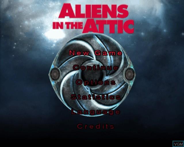 Image du menu du jeu Aliens in the Attic sur Sony Playstation 2