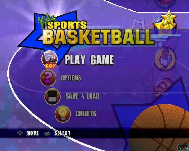 Image du menu du jeu Kidz Sports Basketball sur Sony Playstation 2