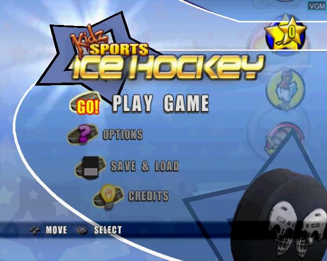 Image du menu du jeu Kidz Sports Ice Hockey sur Sony Playstation 2