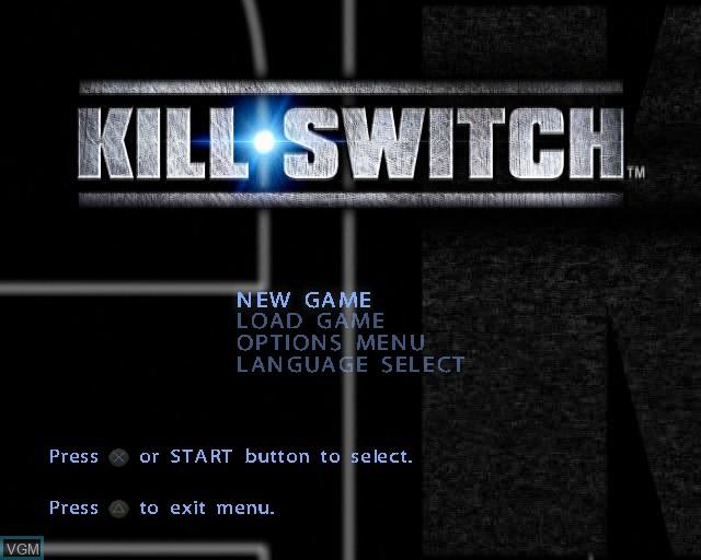 Image du menu du jeu kill.switch sur Sony Playstation 2