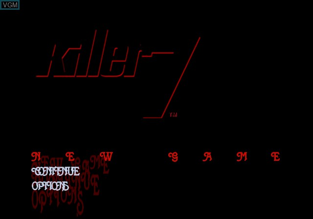Image du menu du jeu Killer7 sur Sony Playstation 2