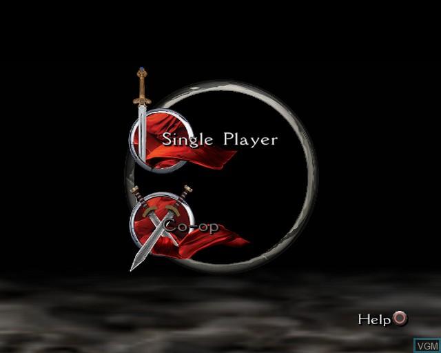 Image du menu du jeu King Arthur sur Sony Playstation 2