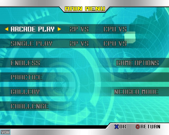 Image du menu du jeu King of Fighters '98 Ultimate Match, The sur Sony Playstation 2