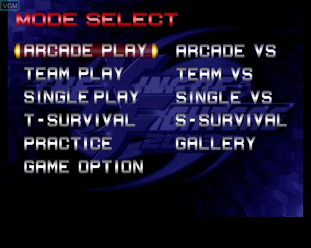 Image du menu du jeu King of Fighters 2003, The sur Sony Playstation 2