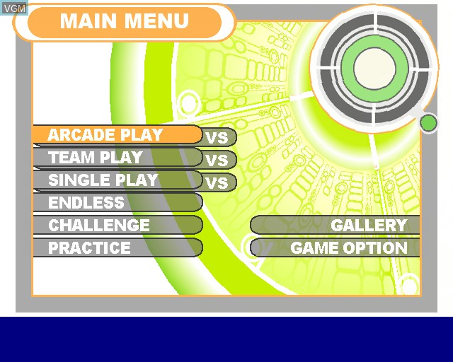 Image du menu du jeu King of Fighters XI, The sur Sony Playstation 2