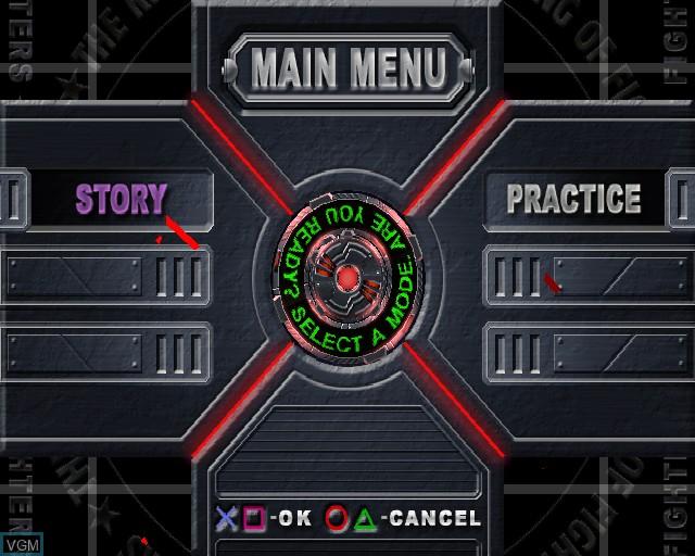 Image du menu du jeu King of Fighters - Maximum Impact sur Sony Playstation 2